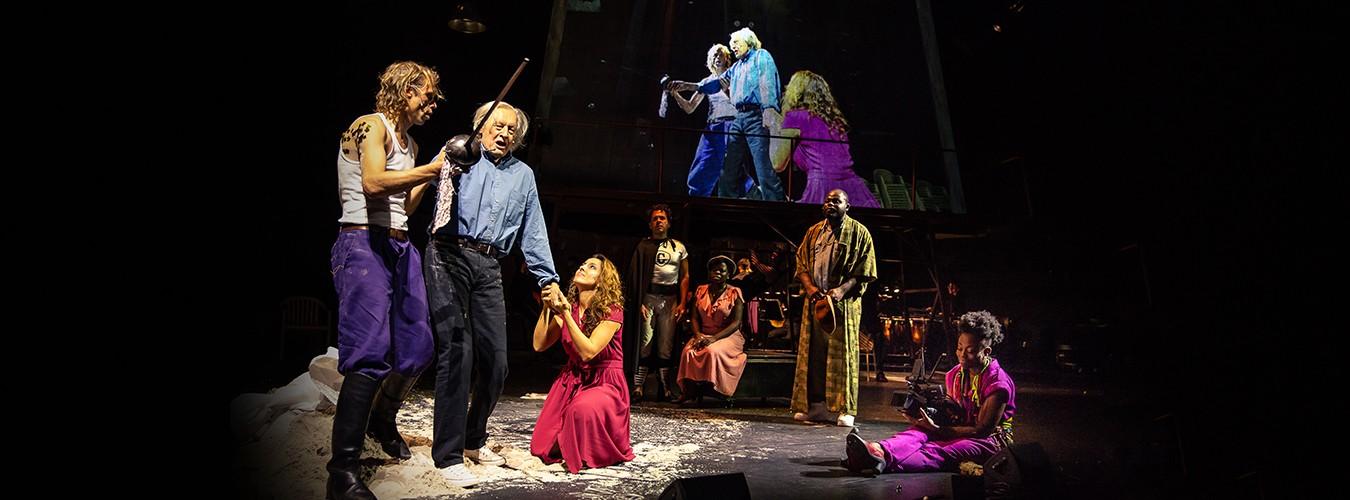Don Quichotte, le Capitaine et Dulcinea, Maria, le Duc, Antonia et Sancho
